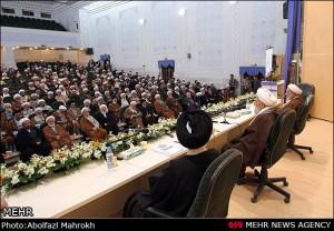 حضور حضرت آیت الله جباری در همایش جامعه مدرسین حوزه علمیه قم