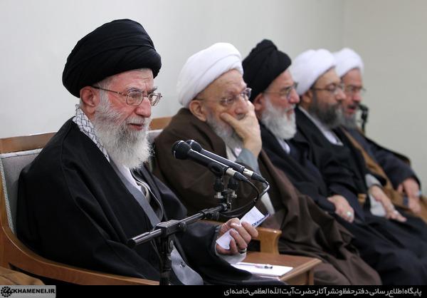 دیدار امام خامنه ای (مدظله العالی) با اعضای مجلس خبرگان