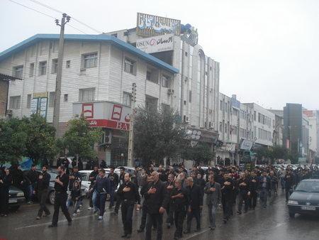 مراسم عزاداری و دسته روی روز عاشورا در بهشهر
