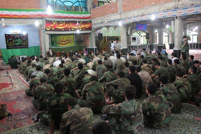 دیدار گردان فاتحین تهران با آیت الله جباری