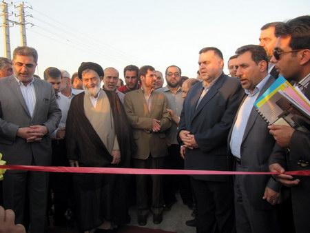 افتتاح تقاطع غیرهمسطح کمربندی بهشهر با حضور حضرت آیت الله جباری ، پل رو گذر کمربندی بهشهر