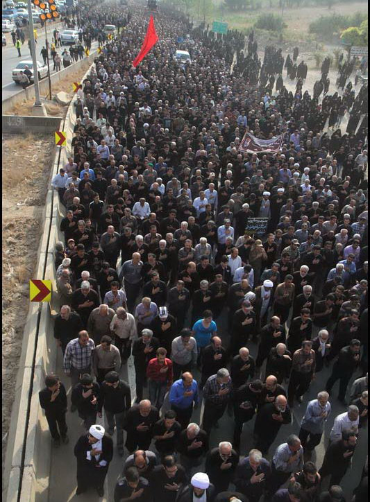 مراسم تشییع پیکر مهطر حضرت آیت الله جباری امام جمعه بهشهر ، نماینده خبرگان رهبری مازندران