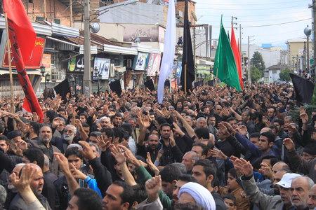 تجمع بزرگ عزاداران حسینی بهشهر ، تاسوعا 1393